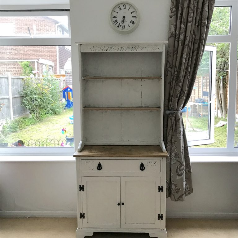 Finished upcycled welsh kitchen dresser