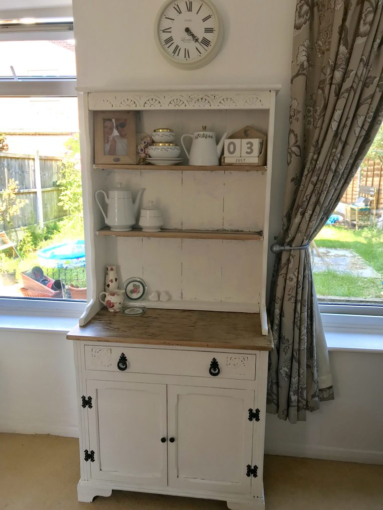 Decorated up cycled welsh kitchen dresser