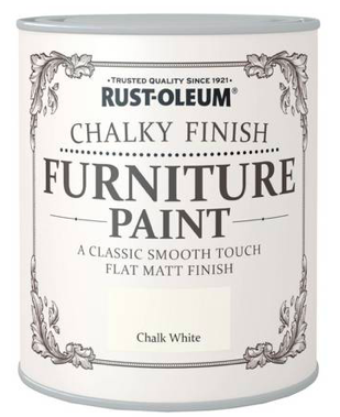 Rust Oleum Chalky White furniture paint