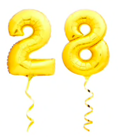 """28"" birthday balloons"