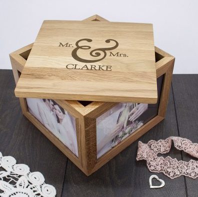 A photo of a personalised keepsake box from Happiness is a Gift