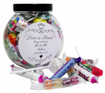 A photo of a personalised sweet jar from Happiness is a Gift