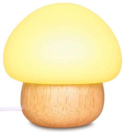 A photo of a mushroom shaped nightlight